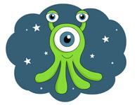 alien creature in space